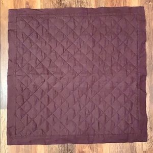 Pottery Barn Quilted Euro Pillow Sham